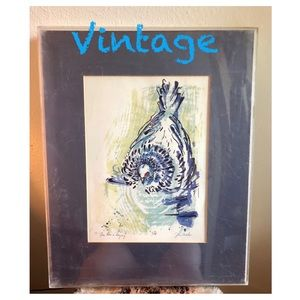 """Vintage """"One Hen A'Laying"""" Jan Miller 7/28 Print"""